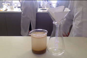 salt and sand separation lab report Most materials that chemists work with are not pure substances and require separation based on  salt water (salt and water), sand  lab you will separate.